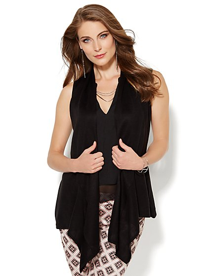 Angular-Hem Vest  - New York & Company
