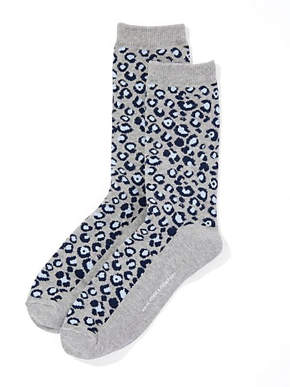Animal-Print Crew Sock  - New York & Company