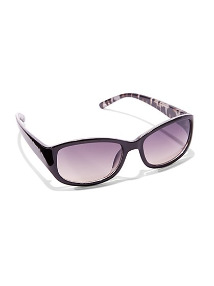 Animal-Print Wrap Sunglasses  - New York & Company