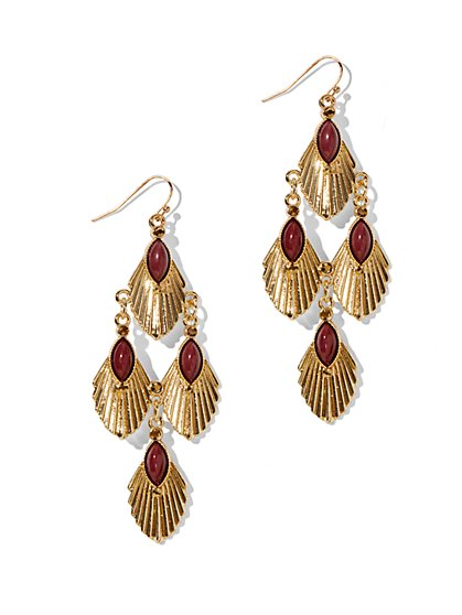 Art Deco-Style Chandelier Earrings  - New York & Company