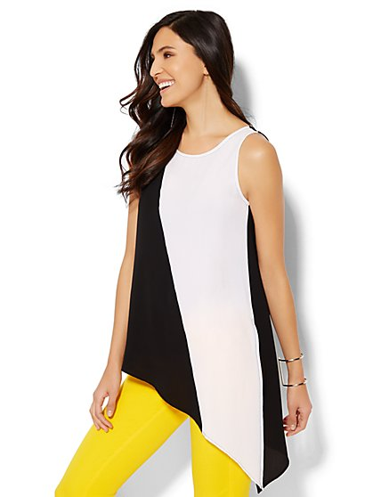 Asymmetrical-Hem Tunic - New York & Company