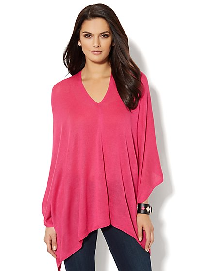 Asymmetrical Poncho  - New York & Company