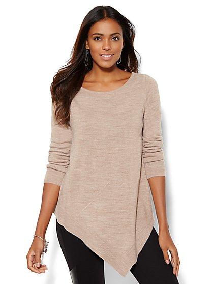 Asymmetrical Tunic Sweater  - New York & Company