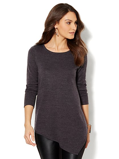 Asymmetrical Tunic Sweater - New York & Company