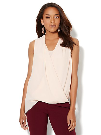 Asymmetrical Wrap Top - New York & Company