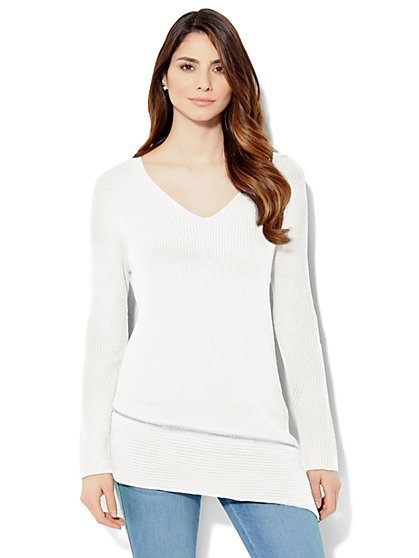 Asymmetrical Zip-Accent Sweater  - New York & Company