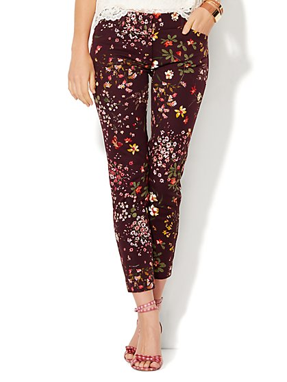 Audrey Ankle Pant - Floral  - New York & Company