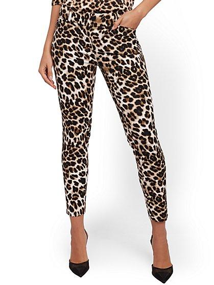 Audrey Ankle Pant - Leopard Print - New York & Company