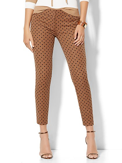 Audrey Ankle Pant - Polka Dot - New York & Company