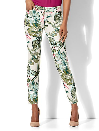 Audrey Ankle Pant - Tropical Print - Petite - New York & Company