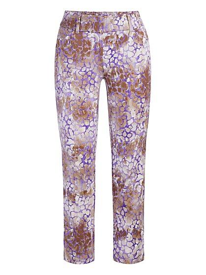 Audrey Capri Slim-Leg Pant - Leopard - New York & Company