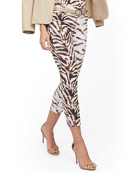 Audrey Capri Slim-Leg Pant - Zebra Print - New York & Company