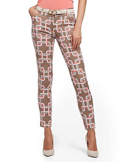 Audrey Slim-Leg Ankle Pant - Graphic Print - New York & Company