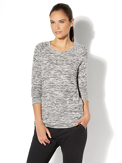 Back-Twist Knit Tunic Top - New York & Company