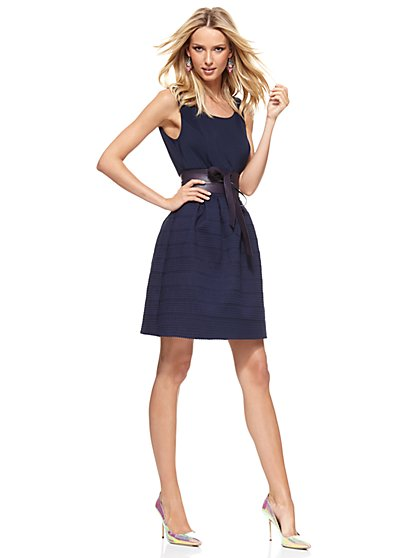 Bandage Flare Dress - Grand Sapphire  - New York & Company
