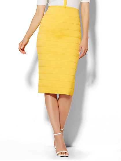 Bandage Pencil Skirt - Petite  - New York & Company