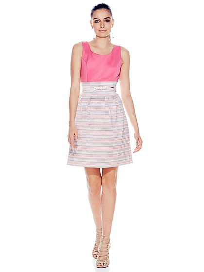 Bandage-Skirt Dress - Petite - New York & Company