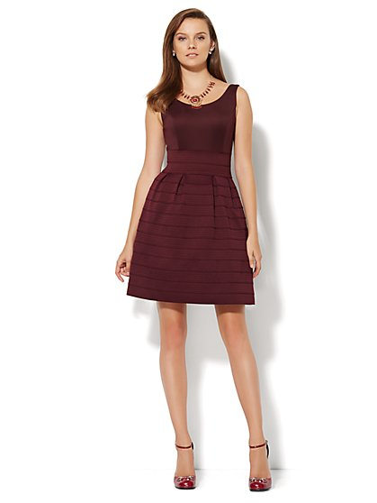 Bandage Skirt Scoopneck Dress  - New York & Company