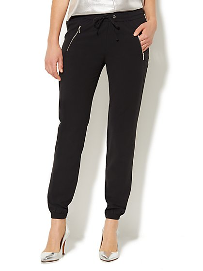 Banded Ankle Soft Pant - Black - New York & Company