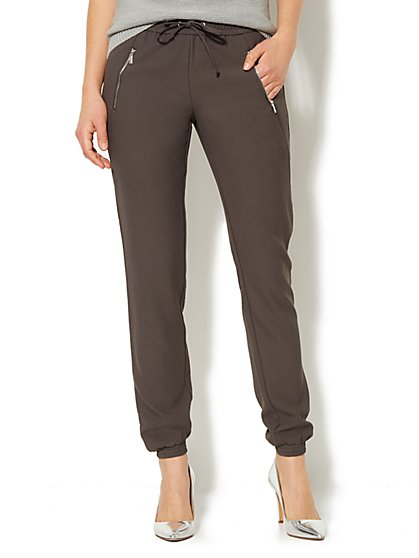 Banded Ankle Soft Pant - Ellington Gray  - New York & Company