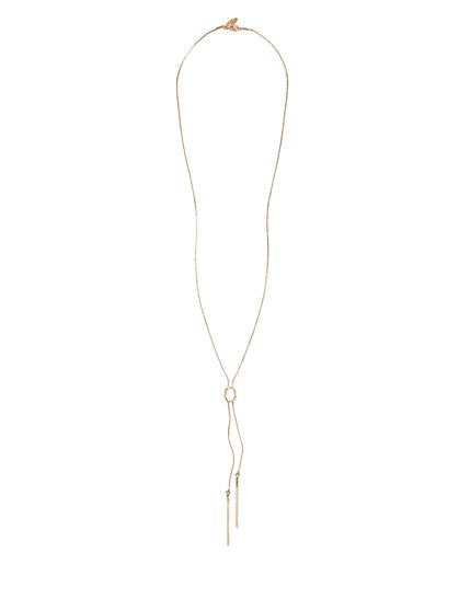 Bar Tassel Lariat Necklace  - New York & Company