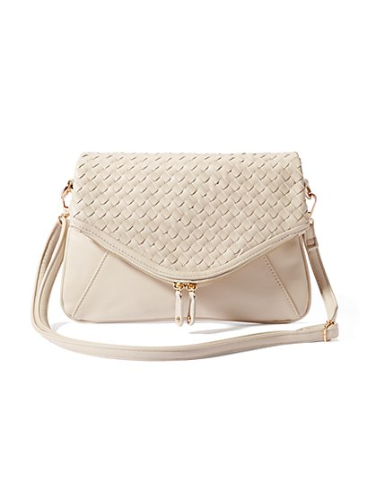Basketweave Crossbody Bag