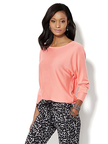 Bateau Dolman-Sleeve Sweater  - New York & Company
