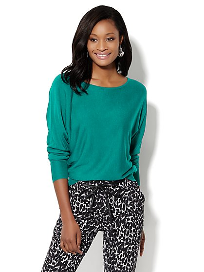 Bateau Dolman-Sleeve Sweater  - New York & Company