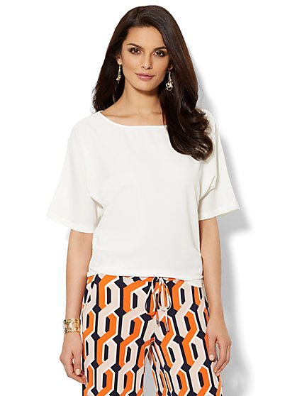 Bateau-Neck Dolman-Sleeve Blouse  - New York & Company
