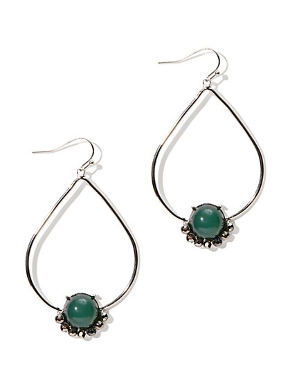 Bead Open-Teardrop Earring