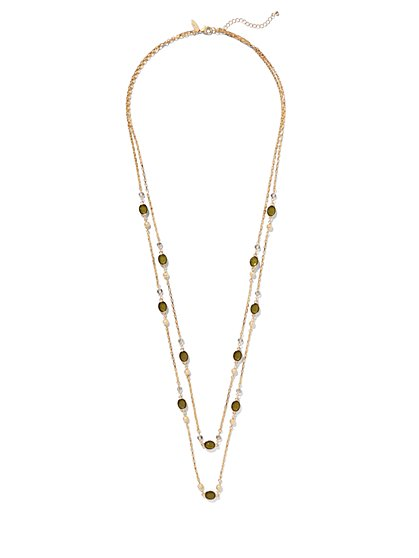 Beaded 2-Row Necklace  - New York & Company