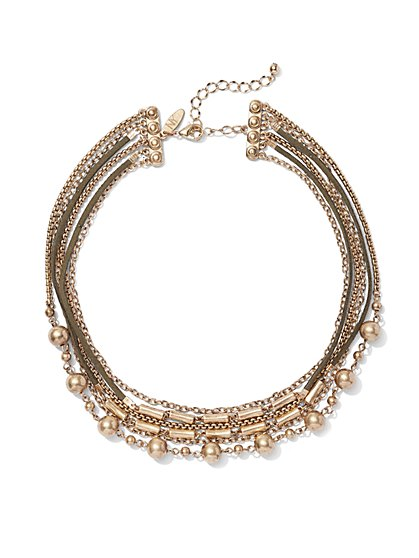 Beaded 6-Row Necklace  - New York & Company