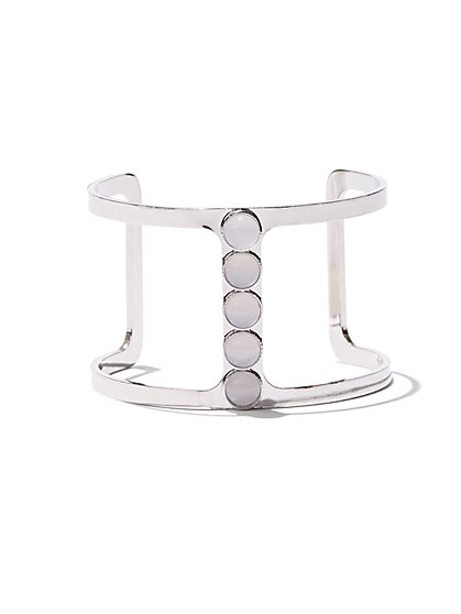 Beaded Bar Cuff Bracelet  - New York & Company