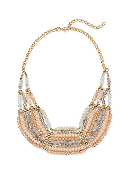 Beaded Bib Necklace - New York & Company
