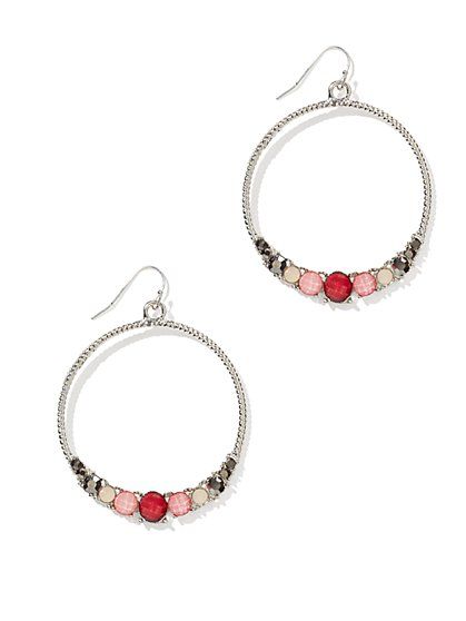 Beaded Cable Hoop Earring - New York & Company