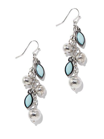 Beaded Chain Dangle Earrings - New York & Company