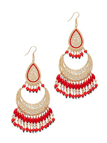 Beaded Chandelier Earring  - New York & Company