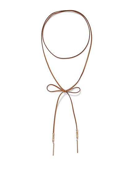Beaded Choker Lariat Necklace  - New York & Company