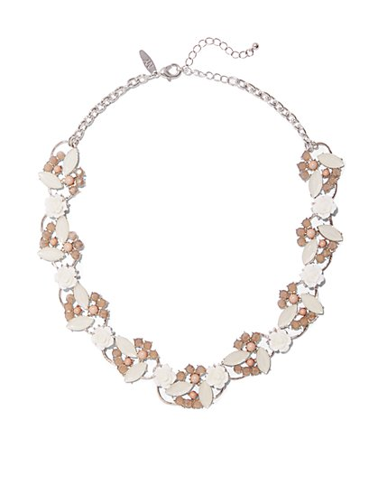 Beaded Cluster Collar Necklace  - New York & Company