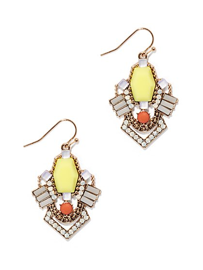 Beaded Cluster Drop Earring  - New York & Company