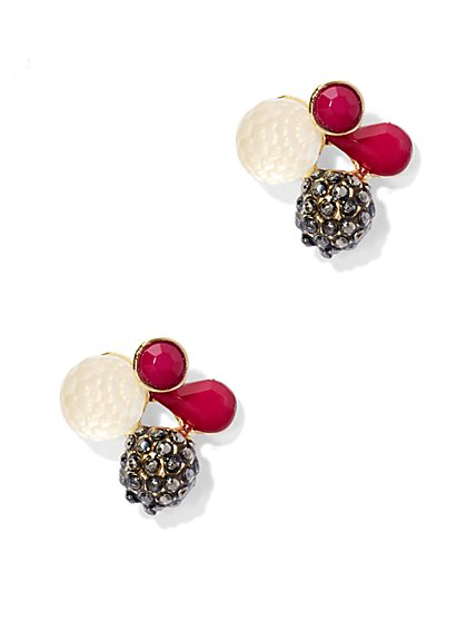 Beaded Cluster Earring     - New York & Company