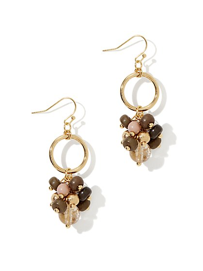 Beaded-Cluster Jangle  Earring