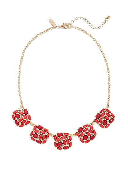 Beaded Cluster Necklace  - New York & Company