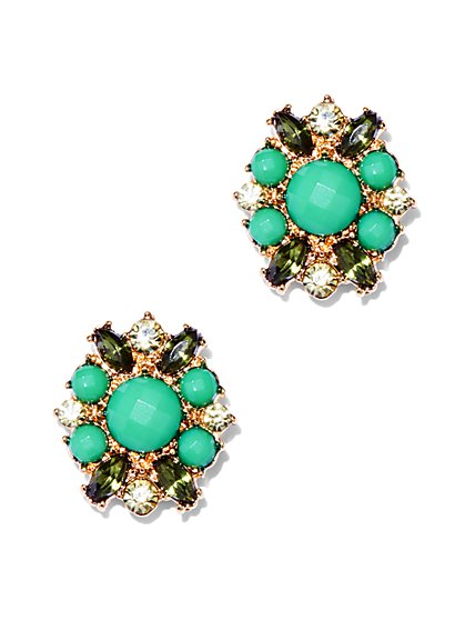 Beaded Cluster Post Earring  - New York & Company