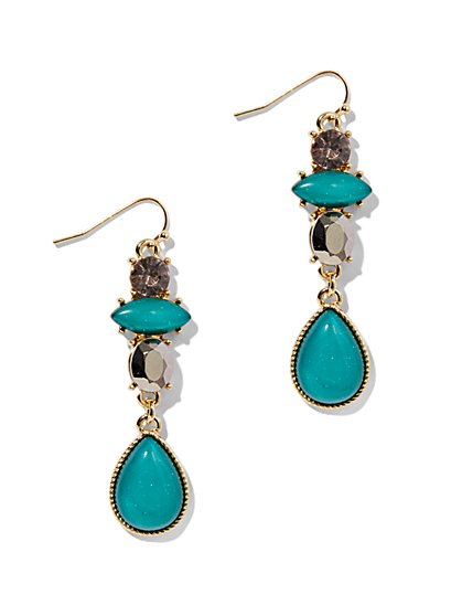 Beaded Cluster Teardrop Earring - New York & Company