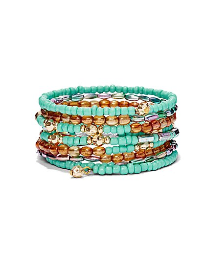 Beaded Coil Bracelet  - New York & Company