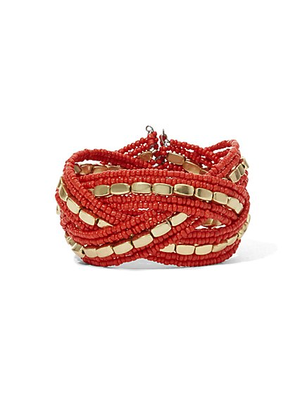 Beaded Cuff Bracelet  - New York & Company