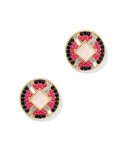 Beaded Disc Earring  - New York & Company