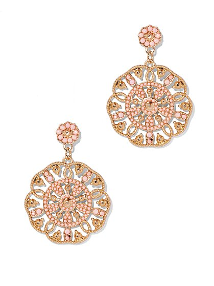 Beaded Disc Earring  - New York & Company