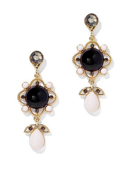 Beaded Double-Drop Earring - New York & Company